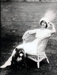 Anna Pavlova. She introduced the first thoroughbred English bulldogs to Russia and was often photographed with them.