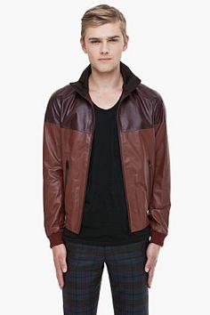 Alexander McQueen Dual Brown Leather Jacket for Men   SSENSE