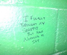 UselessHumor: Funny Signs: The Best of Bathroom Stall Graffiti & Writing. | PleaseDontDownloadRonnie.com. Seriously, Don't Do It.