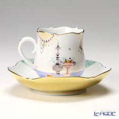 always loved this pattern, but out of my price range! マイセン(Meissen) アラビアンナイト 680710/23582コーヒーカップ&ソーサー 150cc Motiv No.5