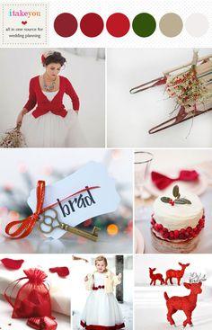 Red Winter Wedding Inspiration | www.itakeyou.couk