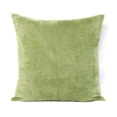 18x18 Throw Pillow Cover Sage Green Celery Home Decor Decorative Suede