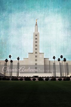Los Angeles LDS Temple - Instant digital DOWNLOAD - Large Temple Print - LA Temple - Portrait Style