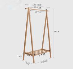 Wood Clothing Rack, Wooden Clothes Rack, Wooden Rack, Pallet Furniture, Bedroom Furniture, Home Furniture, Industrial Furniture, Room Ideas Bedroom, Bedroom Decor