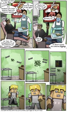 minecraft pictures and jokes :: games / funny pictures & best jokes: comics, images, video, humor, gif animation - i lol'd Minecraft Comics, Minecraft Mobs, Minecraft Pictures, Good Jokes, Funny Games, Kanye West, Funny Pictures, Animation, Humor