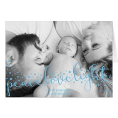 Peace Love Light Personalized Hanukkah Card - holiday card diy personalize design template cyo cards idea