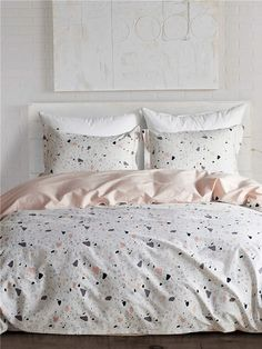 To find out about the Stone Print Sheet Set at SHEIN, part of our latest Bedding Sets ready to shop online today! Dream Rooms, Dream Bedroom, Girls Bedroom, Bedroom Decor, Bedrooms, My New Room, My Room, Cute Bed Sheets, Bed Sets
