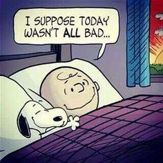 Snoopy eu suponho que, hoje, não foi de todo ruim