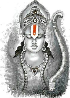 Pibare Rama Rasam-Extraordinary True Story Of An Unknown Srirama Devotee-One - Tattoo MAG Hanuman Images, Lord Krishna Images, Lord Shiva Painting, Krishna Painting, Shiva Art, Hindu Art, Shree Ram Images, Hanuman Tattoo, Lord Sri Rama