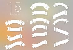 Here is a set of 15 free PSD ribbons made up with Photoshop vector shapes. Free PSD created by IB. Web Design, Tool Design, Creative Design, Design Ideas, Ribbon Banner, Vector Shapes, Free Graphics, Graphic Design Inspiration, Design Elements