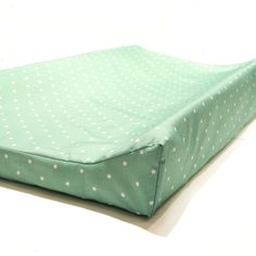 Changing Pad Cover in Mint Polka dot nursery by NewMomDesigns
