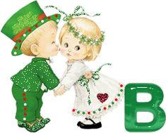 St Patricks Day Alphabet 4Dru Alpha Pair Mr Mrs Alpha Animated Letter A gif by 4Dru   Photobucket