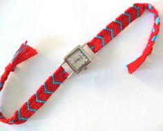 Friendship Bracelet Watch  Chevron Friendship by ClamBoneBracelets, $35.00