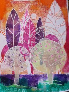 Art by Lucy Brydon with Gelli printing step by step tutorial