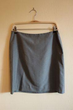 1b5764373e NWT Banana Republic 100% Silk Gray Straight Skirt - Size 6 #fashion  #clothing #shoes #accessories #womensclothing #skirts (ebay link)