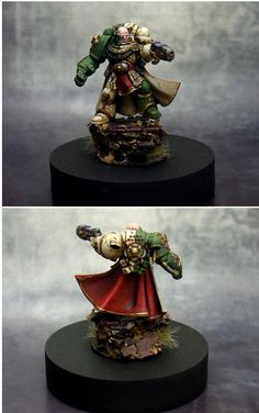 Space Marine Captain of the Dark Sons chapter.