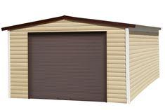 Гараж или большой хозблок на основе металлического каркаса из ЛСТК (легких стальных профилей). Отделка стен - виниловый сайдинг, кровля - профнастил С8, металлическая дверь. Рулонные ворота - ширина 2,4м, высота проема 1,9м. Размеры: периметр - 3,5 х 5,8 м,высота стен - 2 м,высота в коньке - 2,33 м. 89000 руб.  #metgar #construction #garage #lstk #метгар #строительство #строительствогаража #лстк #гараж #гаражна1машину #каркасныйгараж #строительствогаражей #гаражнаоднумашину #гаражлстк Outdoor Furniture, Outdoor Decor, Outdoor Storage, Garage Doors, Home Decor, Homemade Home Decor, Interior Design, Home Interiors, Decoration Home
