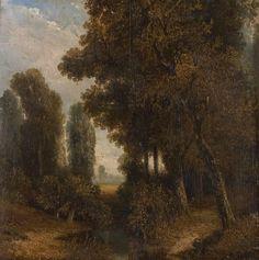 DIAZ DE LA PEÑA, Narcisse Virgile (1807 Bordeaux - 1876), Bachlauf im Wald - Ruisseau en forêt de Fontainebleau,