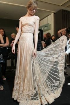 Ellie Saab lace dress