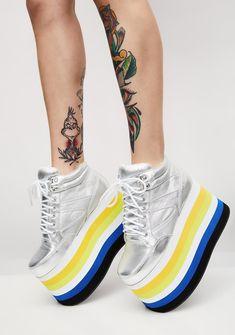 Shellys London Dema Platform Sneakers   Dolls Kill #dollskill #suchgreatheights #platforms #combats #newarrivals #shoes