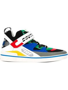 e73f59d66 MOSCHINO Couture Panelled Hi-Top Sneakers.  moschino  shoes  sneakers