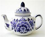 Blue Flower Teapot