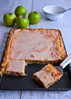 Apple Slab Pie...how fun for a summer picnic or potluck!!  I love that it has apple juice in the glaze. Enjoy :  )