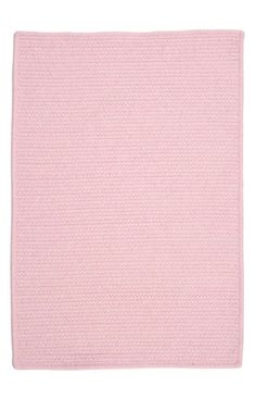 Colonial Mills WM Westminster Braided Blush Pink Rug   Solid & Striped Rugs
