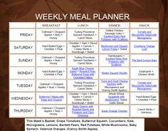 Weekly Meal Planner 10.28-11.3.2011