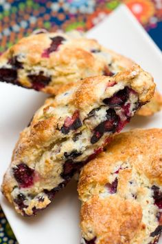 Blueberry Scones  ....<3.  Perfect on-the-go breakfast idea! Brought to you by Shoplet.com - Everything for your business.