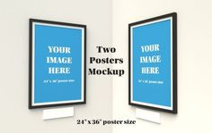 Two Poster Mockup - 24x36