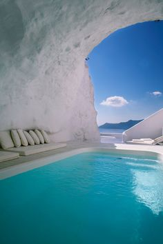 Villa Katikies Hotel, Oia, Santorini, Greece :: cave spa
