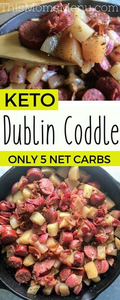 Whether you are looking for a traditional Irish dish to help you celebrate St. Patrick's Day, or you just want some good ol' comfort food, this recipe for keto Dublin Coddle it where it's at! Traditionally this dish is anything but low carb, but with a few simple swaps, this low carb version comes in at only 5 net carbs!! #keto #stpatricksday