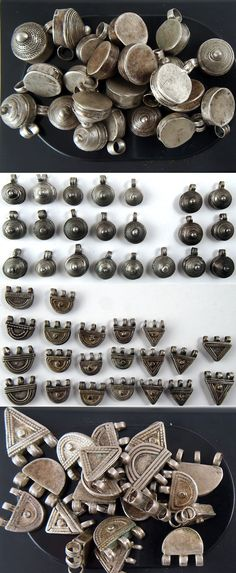 Ethiopia | Collection of old amulets from the Highlands region | Silver