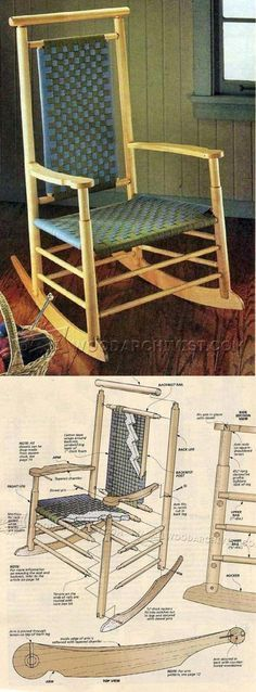 Shaker-Style Rocking Chair Plans - Furniture Plans and Projects | WoodArchivist.com