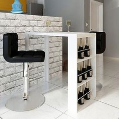 White bar table home kitchen pub dining #coffee #modern rack #storage furniture & public white 42