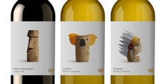 What do you think of the labels for these #wines? The cork design represents the country where the wine originated.