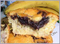 Bananen Nutella Muffins - Lecker mit Geri Nutella Muffin, Cheesesteak, Muffins, Ethnic Recipes, Wordpress, Happy Birthday, Food, Oven, Treats