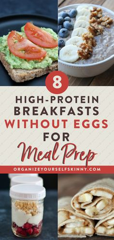 Eating Protein Looking for a healthy, clean eating friendly breakfast that is perfect on the go? These 8 meal prep breakfast recipes without eggs are perfect to make ahead & even freeze beforehand! Click through to check them out! Organize Yourself Skinny Healthy Breakfast On The Go, High Protein Breakfast, Clean Eating Breakfast, Clean Eating Snacks, Breakfast Ideas Without Eggs, Eating Healthy, Easy Kid Breakfast Ideas, Healthy To Go Breakfast, Meal Prep For Breakfast