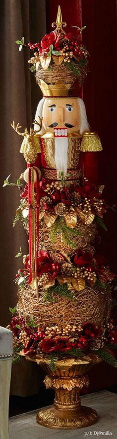 idea for topiary; minus the nutcracker Nutcracker Sweet, Nutcracker Soldier, Nutcracker Christmas, Noel Christmas, A Christmas Story, Christmas Wreaths, Christmas Crafts, Christmas Decorations, Xmas