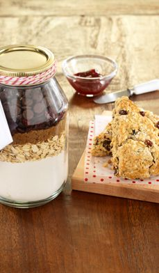 Chocolate Cherry Oatmeal Scones - A sweet holiday treat for you to enjoy or give as a gift