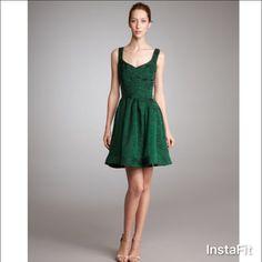 Zac Posen Boucle Yarn Flounce Dress