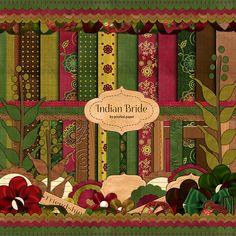 [Freebie] Indian Bride Digital Scrapbooking Kit