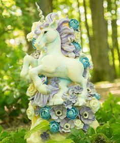 Unicorn cake from choccywoccydoodah Diy Unicorn Cake, Unicorn Cake Topper, Unicorn Party, Little Pony Cake, Little Pony Party, Cupcake Cakes, Cupcakes, Cake Fondant, Choccywoccydoodah