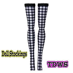 "Monster High 11"" Stockings - B&W Checker - Doll Clothes"