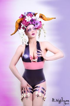bodysuit latex pin up rococco rubber muse