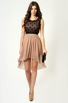 cocktail dresses | Handmade Scoop Lace and Chiffon Cocktail Dresses..