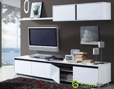 Precioso conjunto de Salón blanco brillo moderno y al mejor de los precios.. Descubrelo aquí #muebleshome #muebles #hogar #decoracion
