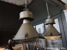 Oude fabriekslampen/stoere scheepslampen/industrieel/buiten