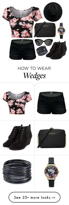 """"""""""" by cupcakelover81201 on Polyvore featuring MICHAEL Michael Kors, Olivia Burton, Linda Farrow and ABS by Allen Schwartz"""